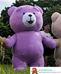 Purple Inflatable  Bear Mascot Costume for Entertainment Inflatable Ted Bear Suit for Event Party Carnival Costumes Funny Mascot Custom Maskot