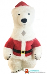 Inflatable  Polar Bear Mascot Costume for Christmas Event Inflatable Polar Bear Costume for Christmas Entertainment Mascot Maker