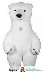 Funny Adult Inflatable Costume Polar Bear Mascot Costume for Party Animal Mascots Creat Your Own Mascot Costumes Buy Mascot Outfits Online ArisMascot