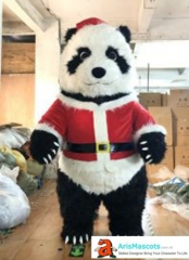 Funny Adult Inflatable Panda Mascot Costume for Christmas Event Panda Inflatable Suit for Entertainment Carnival Costumes Custom Mascot Design