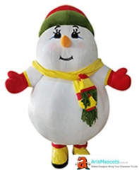 Inflatable Snowman Mascot Costume for Christmas Event Snowman Inflatable Suit for New Year Holiday Entertainment Carnival Costume for Party