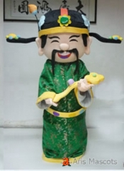God of Prosperity Mascot Costume for New Year Holiday Mascots God of Prosperity Adult Costume for Event Party