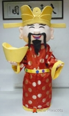 Adult Size Fancy God of Fortune  Mascot Costume God of Wealth Adult Mascot Costume for Event Party New Year Mascots