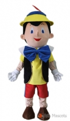 Adult Pinocchio Costume for Event Party Pinocchio Fancy Dress Pinocchio Outfit Cartoon Character Mascot Costumes