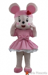 Mascot Rabbit Costume with Pink Tutu Dress Adult Full Suit Dress