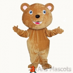 EVA Foam Big Head Brown Bear Mascot Costume for Event Adult Full Giant Bear Costume Cute Dress up
