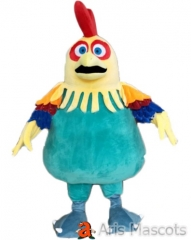 Colorful Foam Giant Chicken Mascot Costume Adult Full Rooster Fancy Dress up For Stage Entertainment