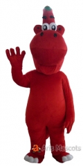 Red Dinosaur Mascot Costume, Full Body Mascot Plush Dinosaur Suit