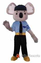 Policeman Koala Adult Costume Full Body Mascot Outfit for Sale